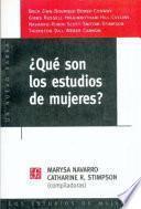 Libro de Qué Son Los Estudios De Mujeres?
