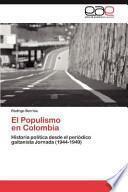Libro de El Populismo En Colombi