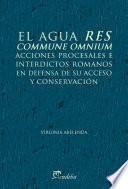 Libro de El Agua Res Commune ómnium