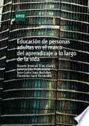 Libro de Educación De Personas Adultas En El Marco Del Aprendizaje A Lo Largo De La Vida