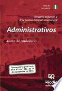 Libro de Temario Volumen 2. Administrativos De La Junta De Andalucía. Jurídico Administrativa General