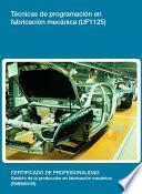 Libro de Uf1125   Técnicas De Programación En Fabricación Mecánica