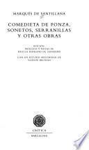 Libro de Comedieta De Ponza, Sonetos, Serranillas Y Otras Obras