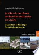 Libro de Análisis De Los Planes Territoriales Sectoriales En España