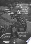 Libro de Diagnóstico Sociolingüístico Para El Fortalecimiento Del Quechua