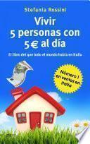 Libro de Vivir 5 Personas Con 5 Euros Al Día