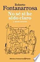 Libro de No Sé Si He Sido Claro