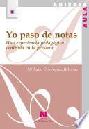 Libro de Yo Paso De Notas