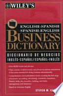 Libro de Wiley S English Spanish, Spanish English Business Dictionary