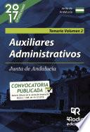 Libro de Auxiliares Administrativos De La Junta De Andalucía. Volumen 2