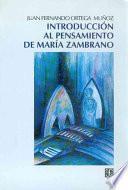 Libro de Introducción Al Pensamiento De María Zambrano