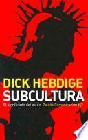 Libro de Subcultura