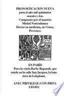 Libro de Nostradamus. Pronosticacion Nueva Para 1562