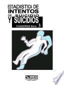 Libro de Estadísticas De Intentos De Suicidio Y Suicidios. Cuaderno Número 3