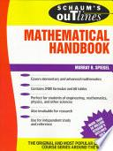 Libro de Mathematical Handbook Of Formulas And Tables