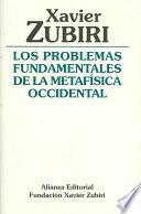 Libro de Los Problemas Fundamentales De La Metafísica Occidental