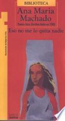 Libro de Eso No Me Lo Quita Nadie