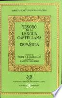 Libro de Tesoro De La Lengua Castellana O Española