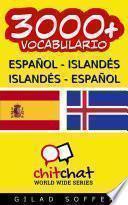 Libro de 3000+ Español   Islandés Islandés   Español Vocabulario