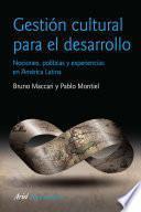Libro de Gestión Cultural Para El Desarrollo