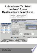 Libro de Aplicaciones Ya Listas De Javat 2 Para Mantenimiento De Archivos