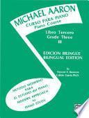 Libro de Michael Aaron Piano Course: Spanish & English Edition (curso Para Piano), Book 3