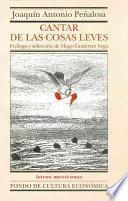 Libro de Cantar De Las Cosas Leves/ Poem Of The Slight Things