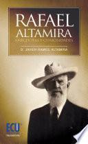 Libro de Rafael Altamira. Curiosidades Y Anécdotas