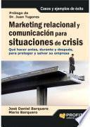 Libro de Marketing Relacional Y Comunicación Para Situaciones De Crisis