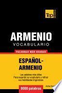 Libro de Vocabulario Español Armenio   9000 Palabras Más Usadas
