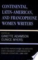 Libro de Continental, Latin American, And Francophone Women Writers: 1986 1987