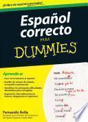 Libro de Español Correcto Para Dummies