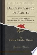 Libro de Da, Oliva Sabuco De Nantes