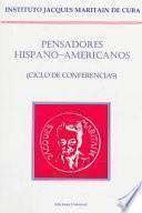 Libro de Pensadores Hispano Americanos