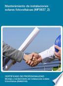 Libro de Mf0837_2   Mantenimiento De Instalaciones Solares Fotovoltaicas