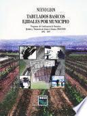Libro de Nuevo León. Tabulados Básicos Ejidales Por Municipio. Programa De Certificación De Derechos Ejidales Y Titulación De Solares Urbanos, Procede. 1992   1997