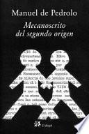 Libro de Mecanoscrito Del Segundo Origen