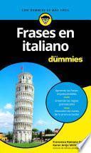 Libro de Frases En Italiano Para Dummies