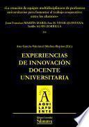 Libro de La Creación De Equipos Multidisciplinares De Profesores Universitarios Para Fomentar El Trabajo Cooperativo Entre Los Alumnos