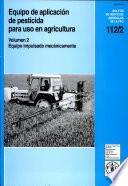 Libro de Equipo Portàtil De Aplicación De Pesticidas Para Uso En Agricultura