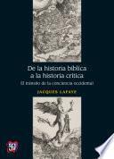 Libro de De La Historia Bíblica A La Historia Crítica