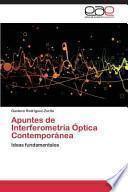 Libro de Apuntes De Interferometría Óptica Contemporánea