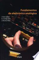 Libro de Fundamentos De Electrónica Analógica