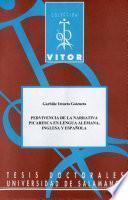 Libro de Pervivencia De La Narrativa Picaresca En Lengua Alemana, Inglesa Y Española