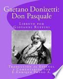 Libro de Gaetano Donizetti