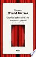 Libro de Escritos Sobre El Teatro