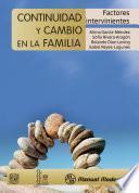 Libro de Continuidad Y Cambio En La Familia