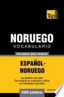 Libro de Vocabulario Español Noruego   5000 Palabras Más Usadas