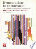 Libro de Democratizar La Democracia