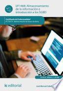 Libro de Almacenamiento De La Información E Introducción A Sgbd. Ifct0310